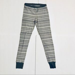 Old Navy Patterned Grey Fair Isle Thermal Leggings
